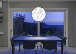 pendant lamp contemporary japanese paper led moon davide