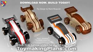 Free Wood Toy Plans Patterns by Wood Toy Plans Wild U0026 Rugged Gt Race Cars Youtube
