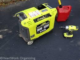 storm readiness ryobi generator to backup a basement sump pump
