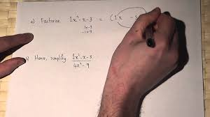 algebra factorising and simplifying algebraic fractions youtube