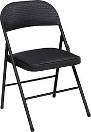 amazon com cosco fabric 4 pack folding chair black kitchen u0026 dining
