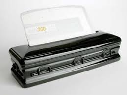 black caskets business card holder jet black