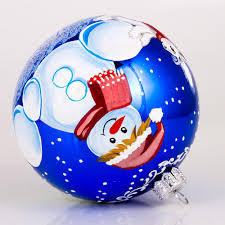 making a snowman christmas ball ornament product sku s 160003