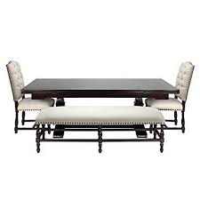 Bench Tables Dining Montecito Dining Table Room Inspiration Bench And Room