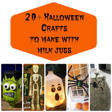 over 20 different crafts you can make for halloween using milk