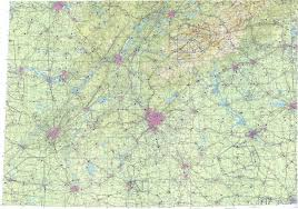 Map Of Atlanta Area by Download Topographic Map In Area Of Atlanta Birmingham Knoxville