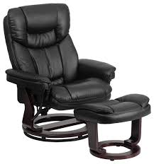 Black Leather Recliner Leather Recliner And Ottoman Mahogany Wood Base Recliner Chairs