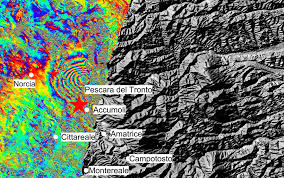 Italy Earthquake Map Space In Images 2016 08 Italy Earthquake Displacement