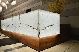 Marble Reception Desk Backlit Onyx Reception Desk Gpi Design
