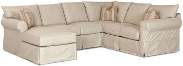 Sectional Patio Furniture Covers - klaussner jenny slip cover sectional sofa with left chaise dunk