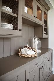 Butlers Pantry Cabinets Gray Chicken Wire Butler Pantry Cabinets Transitional Kitchen