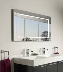 Backlit Bathroom Mirror by Bathroom Mirrors With Also A Frameless Wall Mirror With Also A
