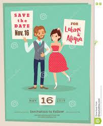 Groom To Bride Wedding Card Wedding Couple Groom And Bride Cartoon Wedding Card Template Stock
