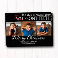 family photo card two front teeth
