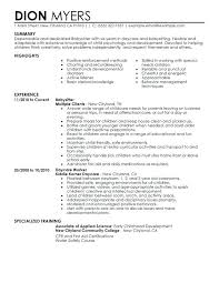 nanny resume template sle resume for nanny nanny resume template time resume