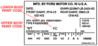 ford color guide car code plastikote paint products