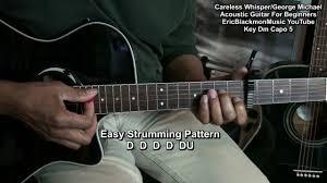 George Michael Youtube by Careless Whisper Beginner Acoustic Guitar Lesson