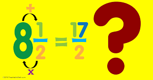 mixed numbers and improper fractions teachablemath