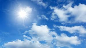 lapse cumulus clouds and the sun stock footage 1206439