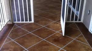 Stain Old Concrete Patio by Decorative Concrete Condo Deck Osage Beach Mo Acid Stained Faux