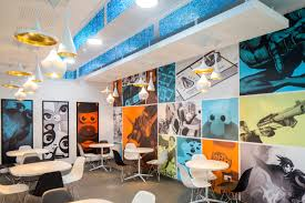 skype headquarters office interior design retro hasbro office wall toys mural