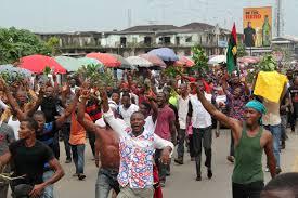 Biafra Flag Pro Biafra Protest Rocks Imo U2013 Scannews Nigeria