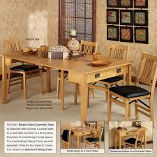 mission natural oak finish convertible 3 in 1 table