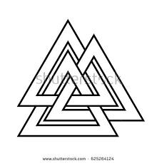 valknut symbol end tree yggdrasil stock vector 589167971