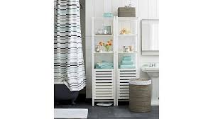 Crate And Barrel Shower Curtains Banya White Bath Tower Crate And Barrel