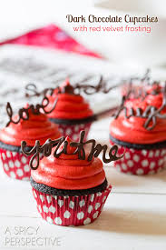chocolate cupcake recipe with red velvet frosting