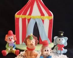 Circus Birthday Decorations Circus Birthday Circus Cake Topper Carnival Decorations Circus