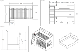 Bunk Bed Drawing Bunk Bed Maple By Flair Furnishings