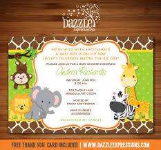 baby shower invitations for jungle baby shower invitation giraffe printable