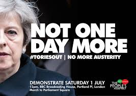 not one day more toriesout national demonstration the people u0027s