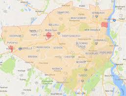 Orange County Zip Code Map by New York Orange County Unionville