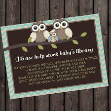 Baby Shower Invitations Bring A Book Instead Of Card Bring A Book Instead Of A Card Insert Baby Shower