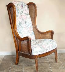 How To Reupholster A Wingback Armchair Learn How To Upholster A Chair Wingback Chair Makeover