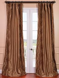 Faux Silk Embroidered Curtains Embroidered Patterned Faux Silk Curtain