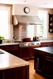 Subway Shape Pattern Kitchen Backsplash Featured Stainless Steel - Metal kitchen backsplash