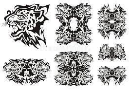 tribal leopard symbols stock vector image 69935425