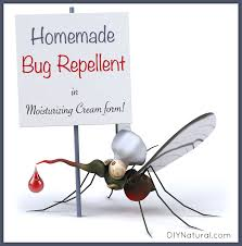 homemade mosquito repellent in a nice moisturizing cream