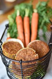 fancy carrot cake muffins with two spoons