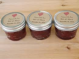 jam wedding favors personalized wedding favor labels spread the wedding