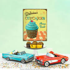 Cupcake Canisters For Kitchen Delicious Cupcakes Kitchen Metal Sign Vintage Bakery Signs