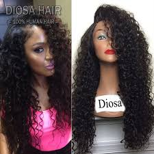 black hair weave part in the middle kinky curly human hair wig side part middle part lace front wig
