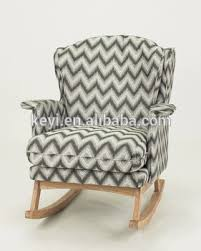 Unfinished Wood Rocking Chair Different Color Choose Home Furniture Use Fabric Cover Wood