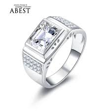 aliexpress buy 2ct brilliant simulate diamond men 20 best 925 mens silver rings images on mens silver