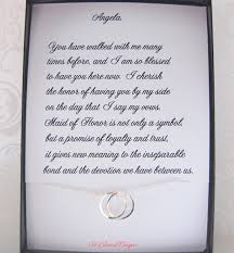matron of honor poem of honor gift of honor necklace thank you gift to