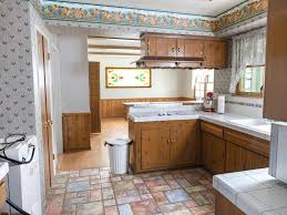 beautiful wallpaper kitchen design brown wooden kitchen cupboard