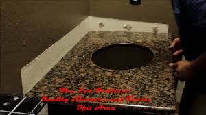 diy install a granite vanity top with sink youtube